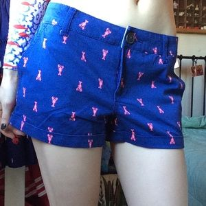 SO Shorts - Lobster Night Navy Blue Pink Preppy Yacht Shorts